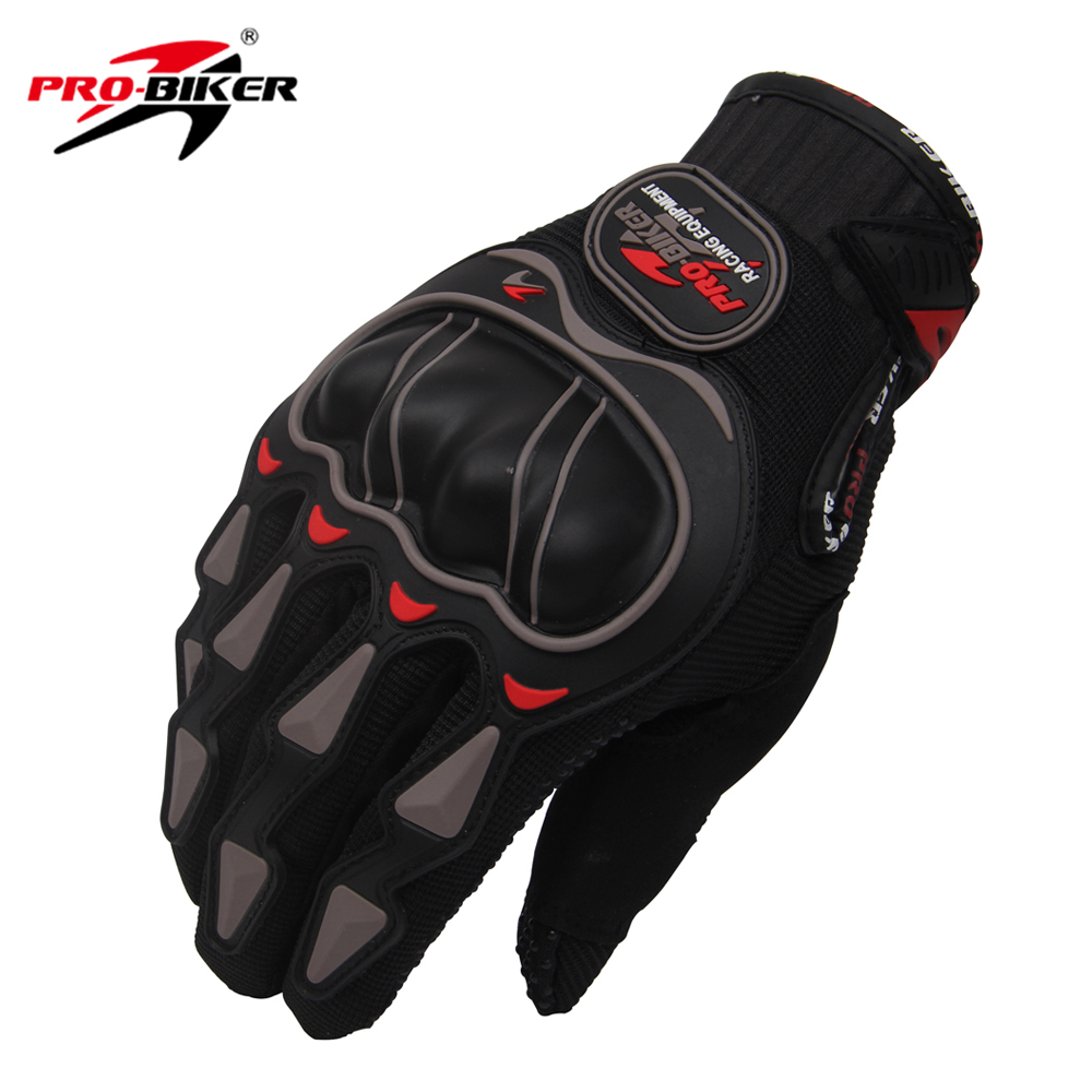 PRO-BIKER Motorcycle Gloves Men Women Riding Breathable Motorbike Motocross Off Road Dirt Bike Racing Gloves Luvas Size: M L XL adjustable pro safety equestrian horse riding vest eva padded body protector s m l xl xxl for men kids women camping hiking