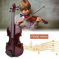 Kinder Violine Kinder Violine Durable ABS Studnets Akustische Violine Spielzeug Praktische Schwarz Tragbare Student