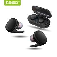 Sago Sport In Ear Earhphones True Wireless Bluetooth Waterproof Earpiece With Microphone And Quiet Touch Key
