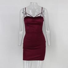 Women Solid Sleeveless Bandage Dress 2018 New Arrivals Sexy Spaghetti Strap Dress Ladies Summer Club Party Bodycon Dress Vestido
