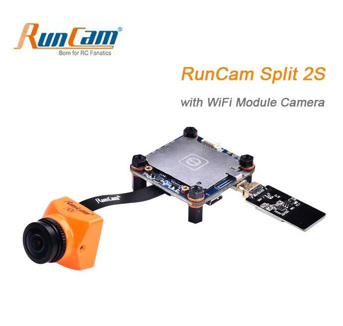 RunCam Split 2 s WiFi Caméra/Split Mini 2 FPV Mégapixels 1080 p/60fps HD l'enregistrement ainsi WDR NTSC/PAL pour FPV RC Quadcopter