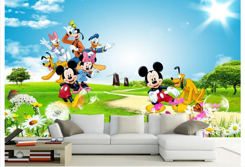 Popular wallpaper mural kids buy cheap wallpaper mural for Carta da parati 3d bambini