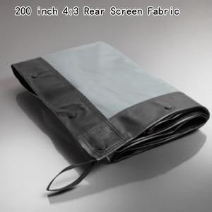 Качественный 200 дюймов 4:3 задний экран ткань задняя проекция лучше всего подходит для быстрого складывания рамы проекции