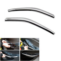 YAQUICKA 2Pcs Set Car Interior Door Armrest Handle Decoration Strips Cover Trim Styling For Ford Focus