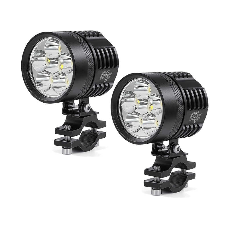 1 Or 2PCS 2 mode 60W 3000LM 6LED Motorcycle Spot Light LED Driving Headlight Fog Driving Lamp High Power