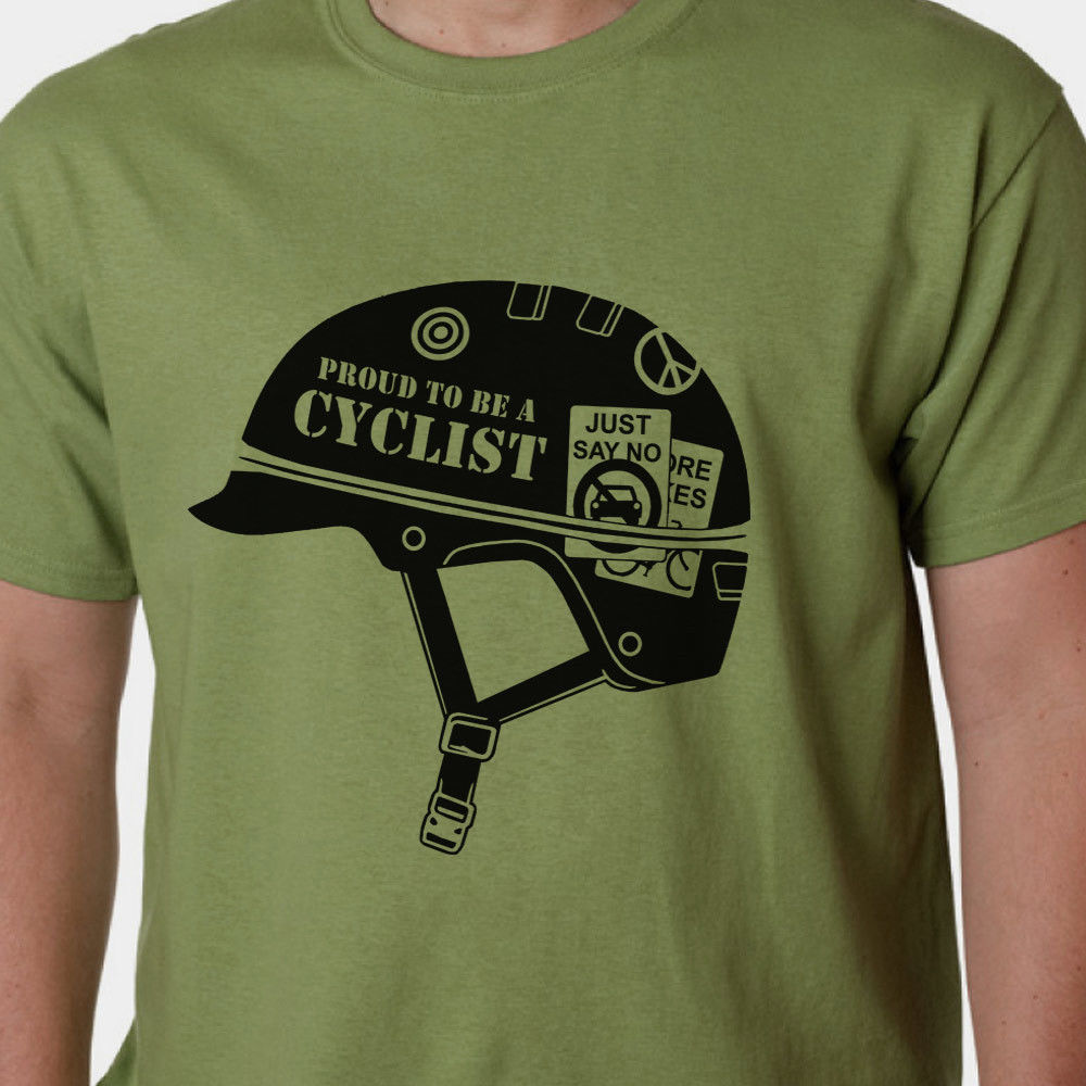 Proud To Be A Cyclist - Biker BMX Cyclinger Bicycle Full Metal Jacket style SLOGAN tee