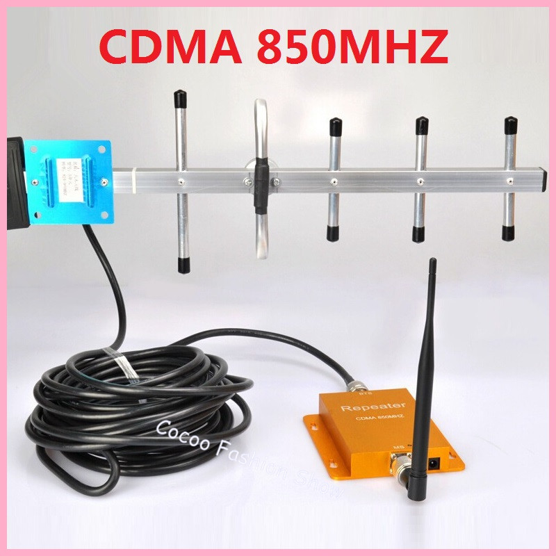 Hot Sell CDMA 850 Mhz GSM Repeater Booster <font><b>Cell</b></font> <font><b>phone</b></font> Mobile <font><b>Signal</b></font> Repeater <font><b>Amplifier</b></font> Booster &#038; 10M Yagi Antenna Free Shipping