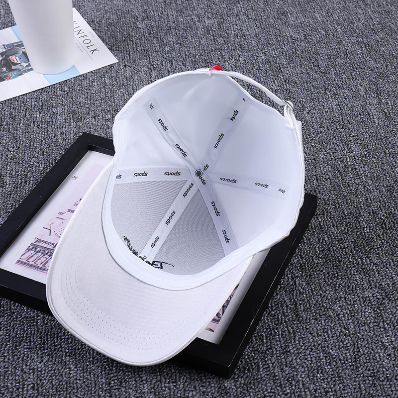 Korean Embroidery Concise Baseball Woman Summer Go On A Journey Sunshade Curved Peaked Cap Male Silks Hats bone hat casquette