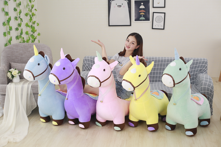 купить new arrival large 80cm lovely cartoon unicorn plush toy soft doll hugging pillow Christmas gift s2359 по цене 6010.3 рублей