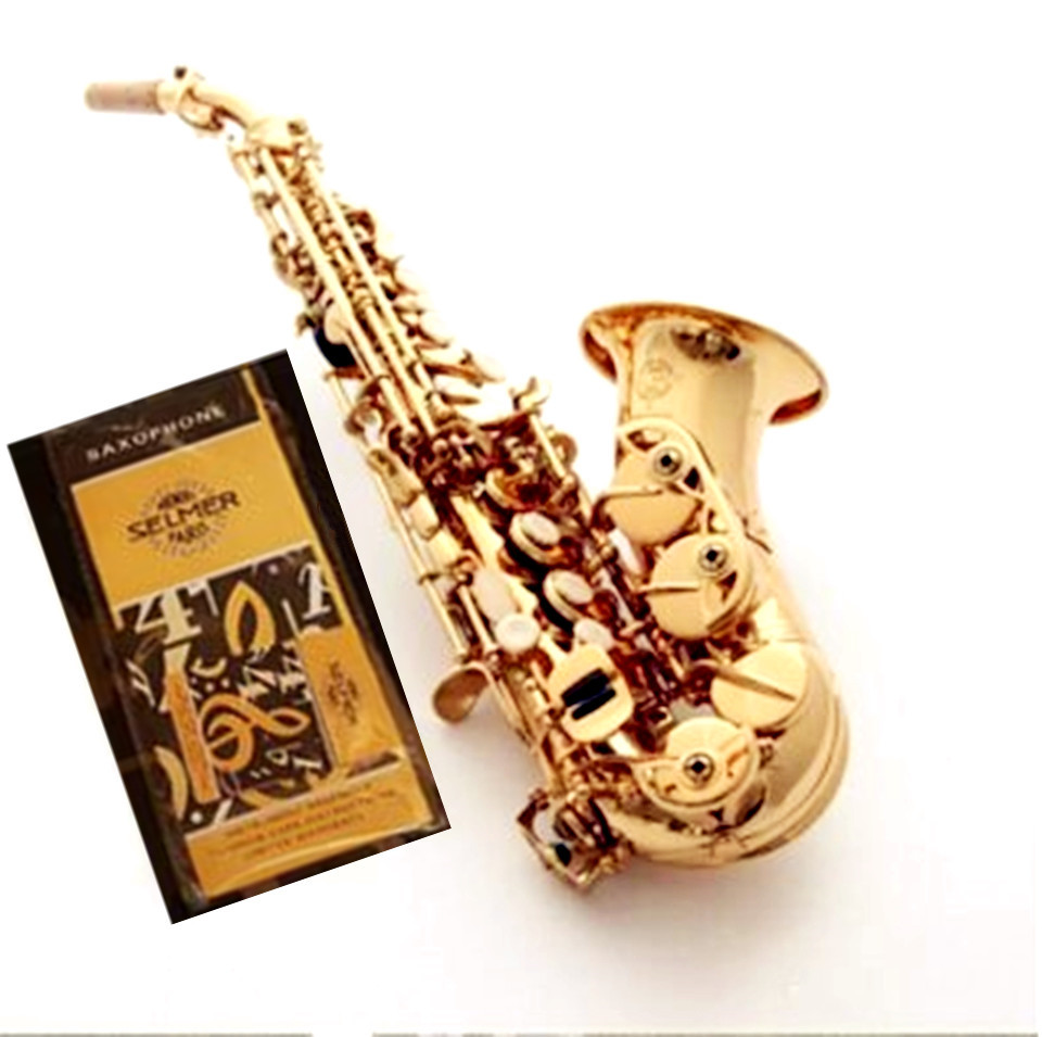 France Selmer R54 Curved Soprano Saxophone Electrophoresis Gold Professional level Musical Instruments for childrens and Adults