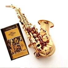 Франция Selmer R54 изогнутый саксофон сопрано электрофорез золото профессионального уровня музыкальных инструментов для детей и взрослых