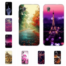 For Alcatel 1 Cover Slim Soft Silicone TPU 5033D Phone Case Romantic Scenery Patterned Alcatel1 5033 Shell Bag