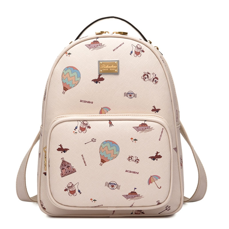 Female Students Backpacks PU Leather Shoulder Bags Korean High Quality Women Bag Lady Daily Backpack For Teenagers Girls Mochila oxford bag korean version of the female students shoulder bag large capacity backpack canvas backpacks