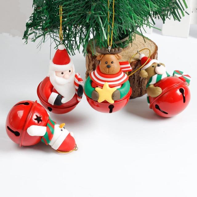 Navidad Iron Metal Jingle Bells Pendant Hanging Ornaments Christmas Tree Decorations Natal Noel New