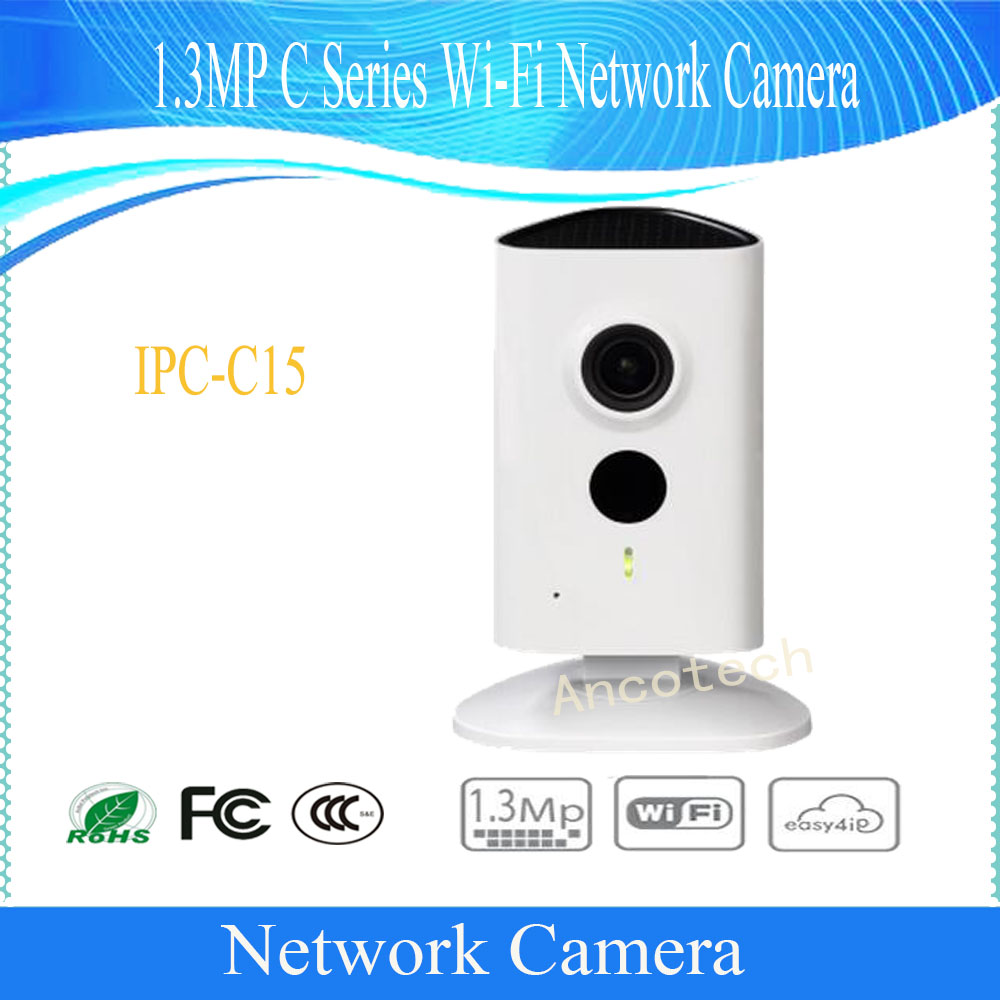 Free Shipping DAHUA Security WIFI Camera 1.3MP HD C series Wi-Fi Camera with 10M IR Range without Logo IPC-C15 free shipping dahua video intercom 7inches wi fi indoor monitor without logo vth5221d vth5221dw