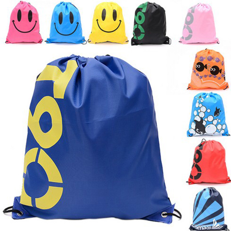 41*33CM Waterproof Travel Shoulders Bag Storage Shoes Bag Drawstring Backpack for Baby Kids <font><b>Toy</b></font> Lingerie Makeup image