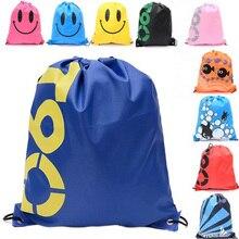 41*33CM Waterproof Journey Shoulders Bag Storage Footwear Bag Drawstring Backpack for Child Youngsters Toy Lingerie Make-up