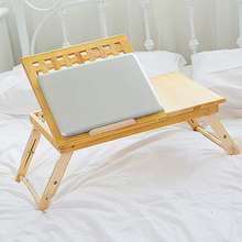 Multi Function Table Bed Office Lapdesk Table Solid Wood Bamboo Computer Portable Breakfast Table Sofa Bed 2018 Anti-skid strip(China)