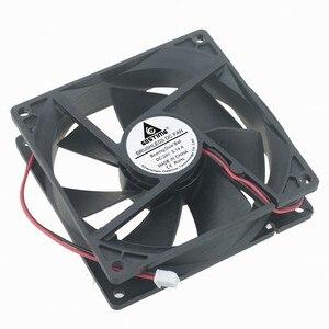 Image 4 - DC12V 24 V 48 V 2pin 9225 9 cm 90mm 92*92*25 double roulement à billes silencieux ventilateur de refroidissement sans brosse