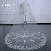 New arrival Ivory white Wedding Veils schleier Bridal Veil Lace Edge Wedding Accessories Bride Mantilla Wedding Veil sluier