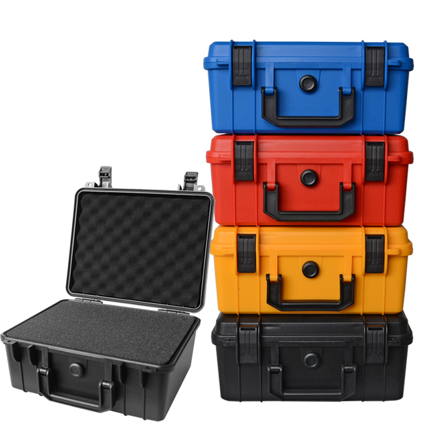 280x240x130mm plastic Tool case toolbox Impact resistant sealed waterproof safety case equipment camera case with foam lining 1