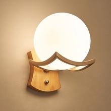 Loft New wooden wall lamp Luminarias De Interior Led Wall Light Sconce Indoor House Lighting Fixtures For Mirror