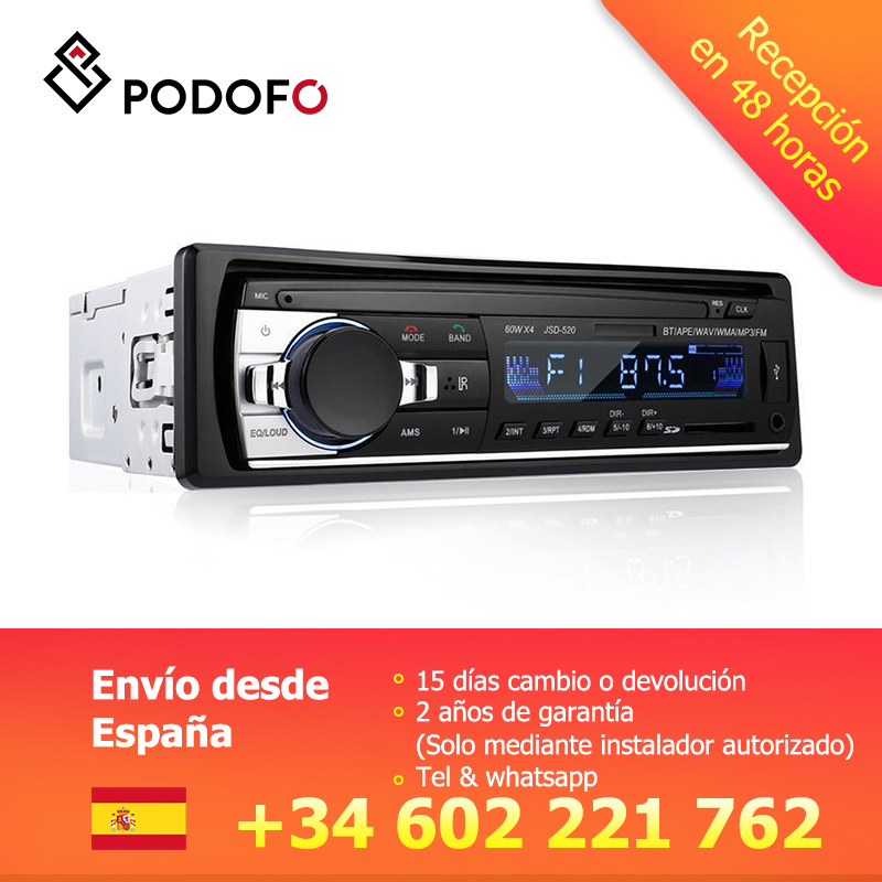 Podofo 1 din Auto Radios Stereo Bluetooth Fernbedienung Ladegerät telefon USB/SD/AUX-IN Audio MP3 Player 1 DIN In-Dash Car Audio