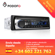 Podofo 1 din автомагнитолы стерео Bluetooth зарядное устройство с ДУ телефон USB/SD/AUX-IN аудио mp3-плеер 1 DIN In-Dash автомобильный аудио