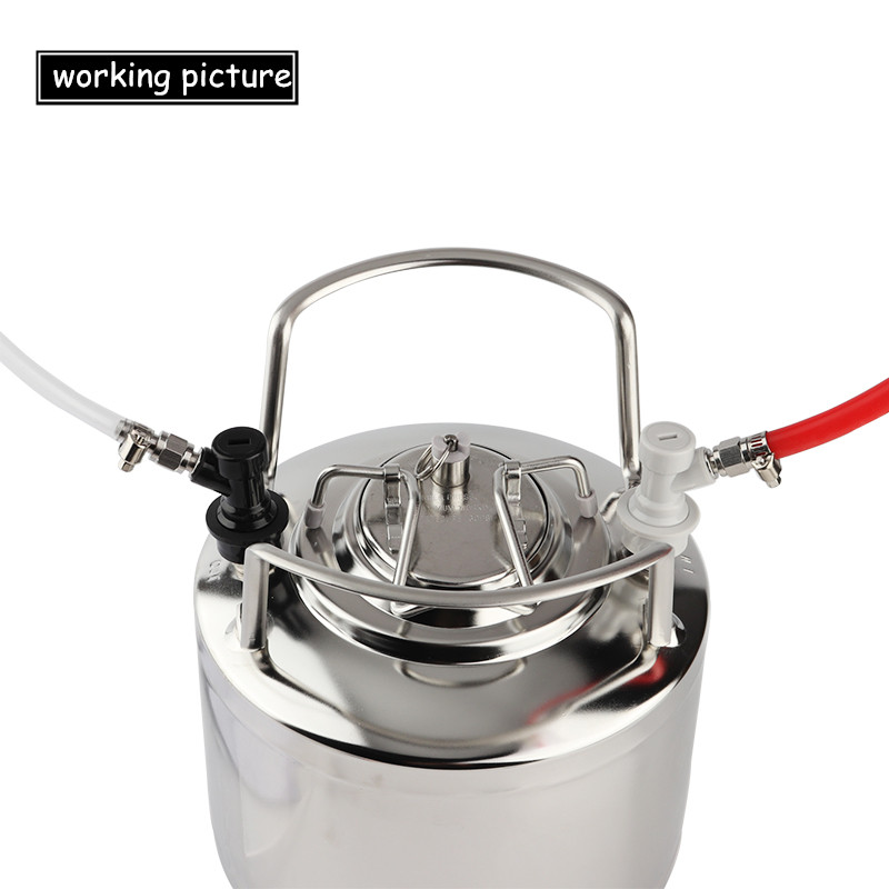 """Thread Ball Lock Keg Disconnect Set With SS 1/4"""" Barb Swivel Adapters,Liquid & Gas With 1/4""""MFL"""