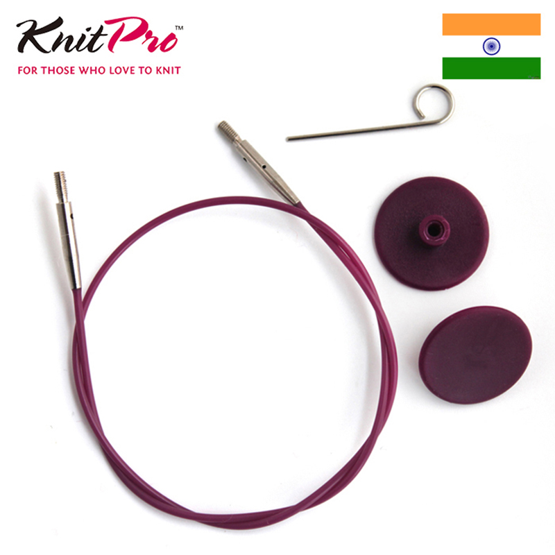 KnitPro Interchangeable Knitting Needle Cable Purple Cable