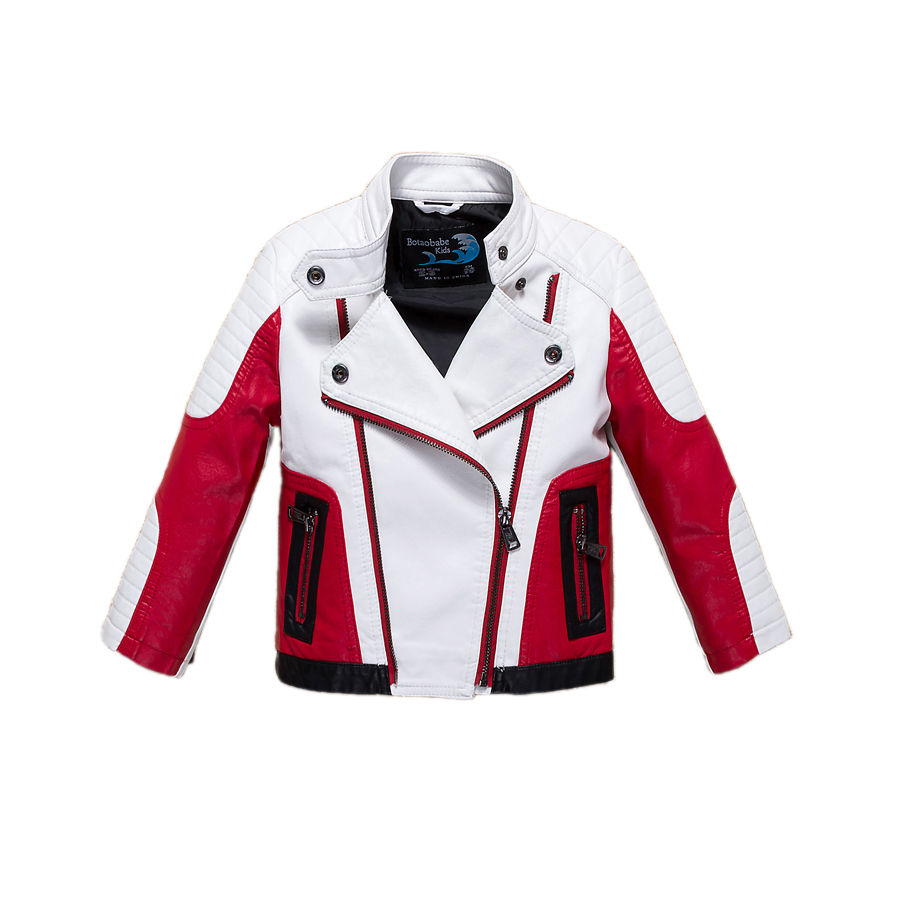 fashion boy causal jacket coat novelty leather PU jacket coat for 1-12yrs boys students kids children outerwear leather clothing электрощипцы для волос philips hp8618 00 care curlcontrol