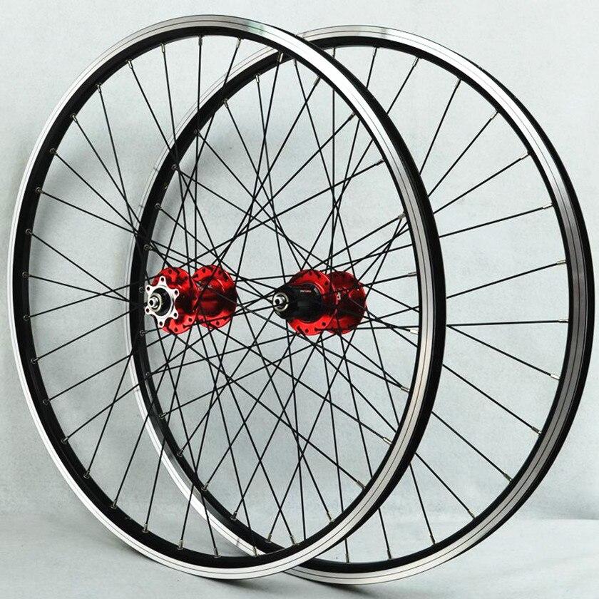 MTB bike Mountain bicycle front 2 rear 4 bearing hub drums V brakes wheels wheel set 7-11 speed card fly cassette