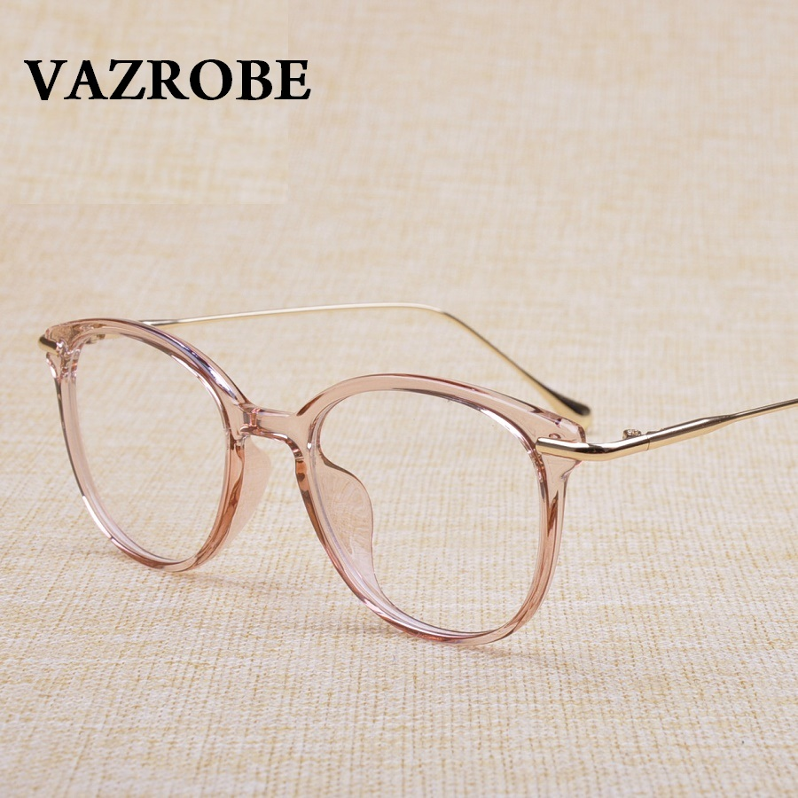 Vazrobe Transparent Glasses Frame Women Men Prescription Spectacles Clear Fashion Eyeglasses Frames Eyewear Plain Optical Lenses