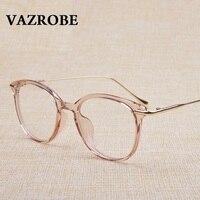 Vazrobe Transparent Glasses Frame Women Men Prescription Spectacles Clear Fashion Eyeglasses Frames Eyewear Plain Optical Lenses