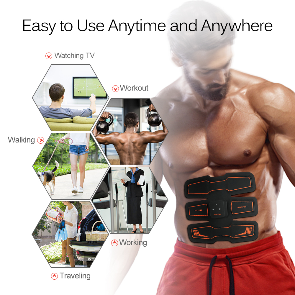 Rechargeable Fitness Assistant Toner Belly Leg Arm Exercise Abdominal Muscle Trainer Health Abdominal Fitness Training Toning-in Massage & Relaxation from Beauty & Health    3