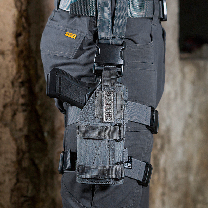 OneTigris Tactique Molle Jambe de Baisse Plate-Forme & Pistolet Pistolet Holster Airsoft Paintball Droitier Holster