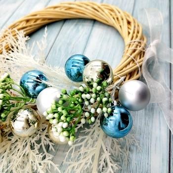 LINMAN 10pcs shiny Christmas art wreath rattan reed garland garland Christmas decoration 38cm party supplies home decoration