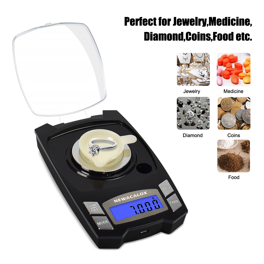 50g//100g//0.001g LCD Digital Jewelry Scales Lab Weight High Precision Scale Medic