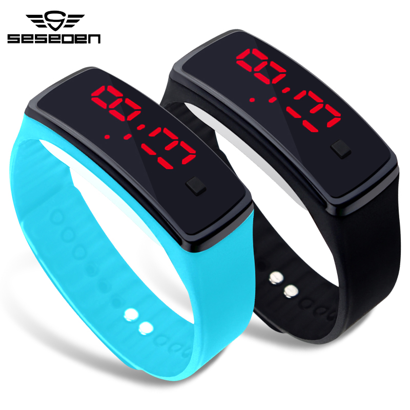 Fashion Mens Casual LED Digital Watch Soft Silicone Band Wrist Watches Men Clock relogio masculino cool led watch men analog alarm s shock led digital wrist watch mens smael watch men 1637 relogio masculino sport watch running