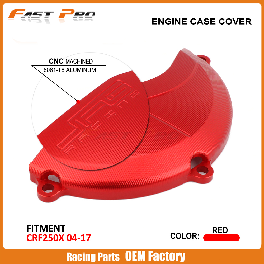 CNC Right Side Engine Case Cover Protector Guard For HONDA CRF250X <font><b>CRF</b></font> <font><b>250X</b></font> <font><b>2004</b></font> 2005 2006 2007 2008 09 10 11 12 13 14 15 16 17 image