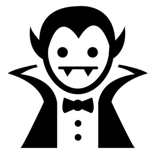16.6 cm * 16.8 cm dibujos animados vampiro moda vinilo Car styling ...