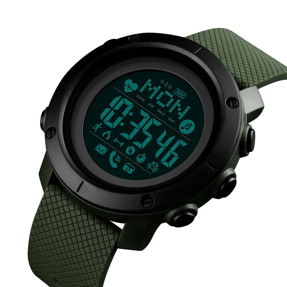 SKMEI Relógio Do Esporte Dos Homens Relógio À Prova D' Água Bússola Digital de Pulso De Calorias da Frequência Cardíaca Relógio reloj hombre
