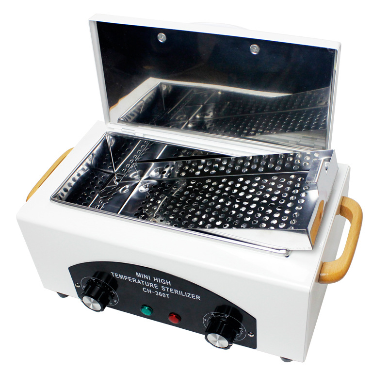 High Temperature Sterilizer For Nail Tools - Hot Air Disinfection With Removable Stainless Steel Tank nail sterilizer disinfect machine high temperature for metal tattoo art nipper tools with clean pot 10l