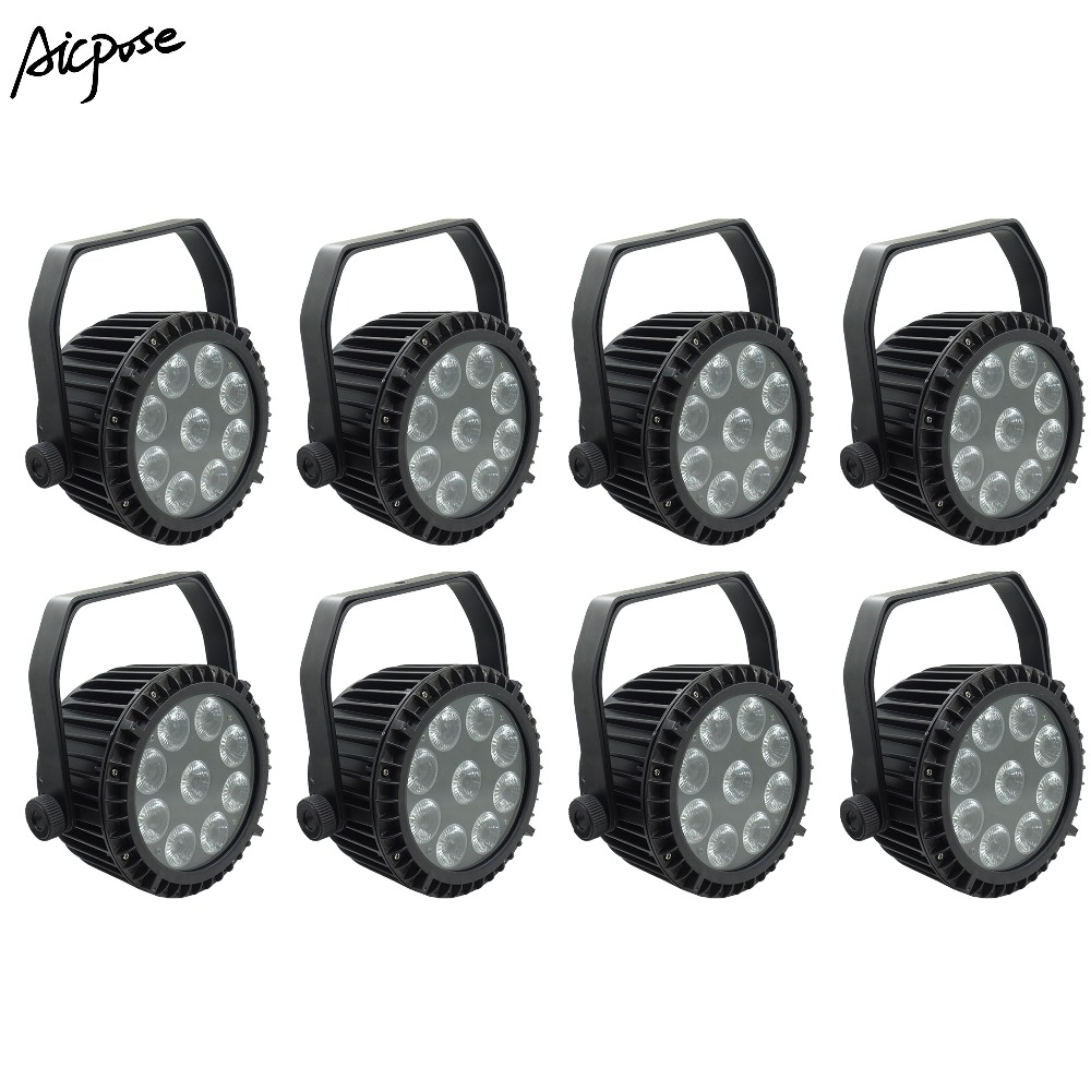 Liberal 8pcs/lots Ip65 Waterproof 9x10w Rgbw 4 In 1 Outdoor Waterproof Stage Light With Dmx512 Control Wall Washer Light Staining Light Lights & Lighting Commercial Lighting
