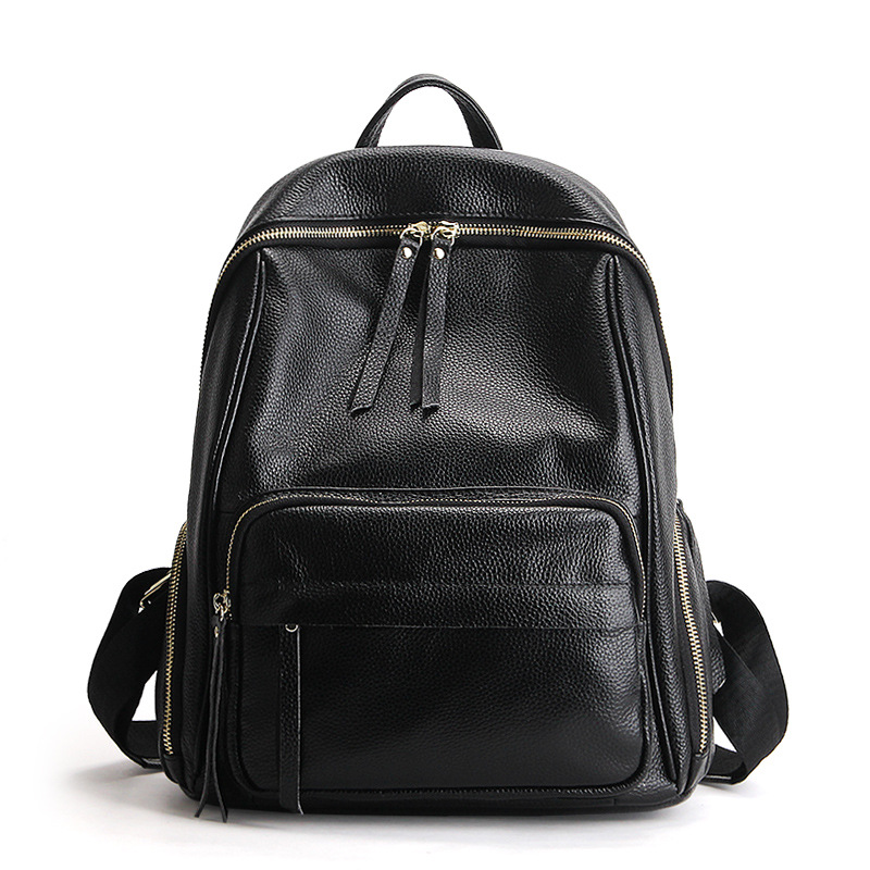 Dante Black Fashion Women Backpacks Real Cow Leather School Bags Girls Travel Shoulder Bag Female High Quality Daily Daypacks faux leather fashion women backpacks vintage casual daypacks shoulder bags travel bag free shipping
