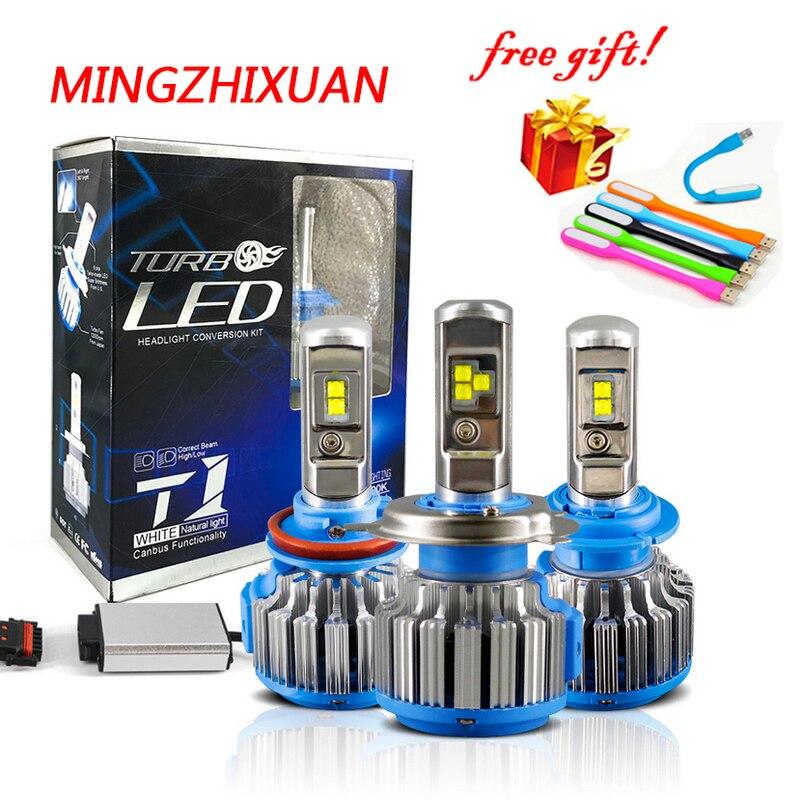 T1 Phare De Voiture LED H4 4000LM H1 H3 H7 H11 H13 9004 9005 9006 9007 Lumières pour accessoires chevrolet cruze a3 led 55 w travail lumière