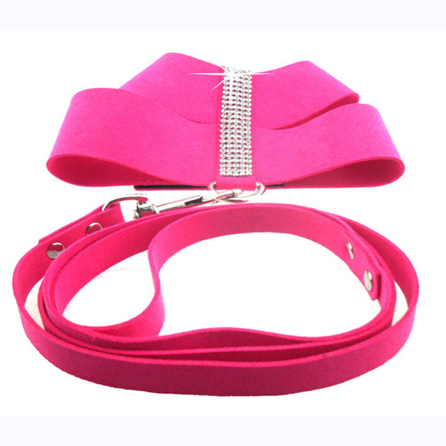 Luxury Rhinestone Pet Dog Harness Soft Crystal Diamong Harness Vest