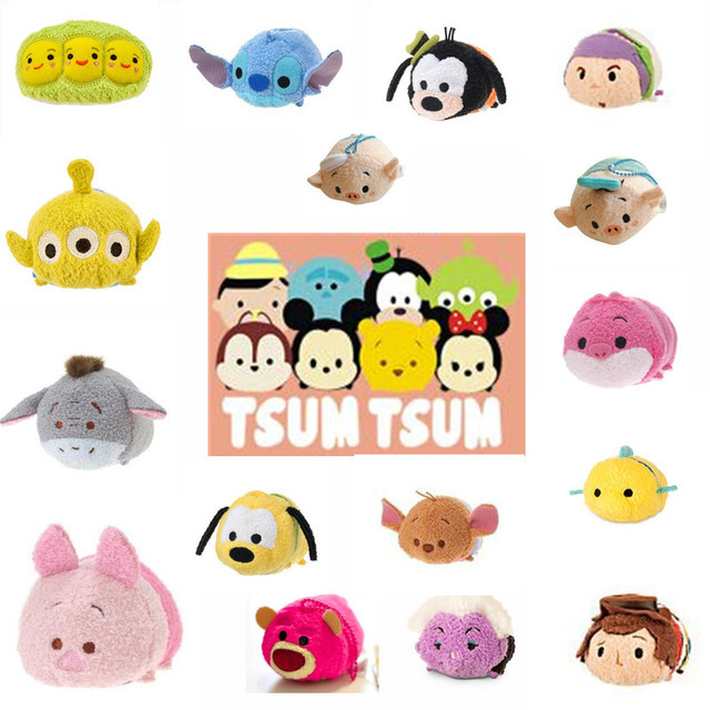 Tsum Three Little Pigs Sherif Woody Buzz Lightyear Plush Toys Stuffed Dolls For Girls Smartphone