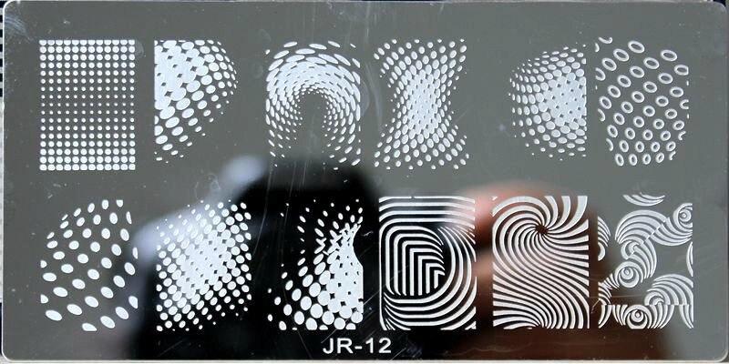 Nailart Nails Art & Werkzeuge Trendmarkierung ##0012-6*12 Cm Nail Art Bild Druck Schönheit Designs Neue Nägel Stanzen Platten Nail Art Polnischen Vorlagen-geometrie 12