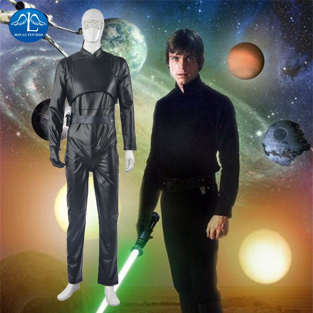 MANLUYUNXIAO Men's Costume Luke Skywalker Cosplay Costume Dark Side of the Force Whole Set Halloween Costume For Men